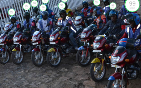Kigali's 'motos' are a huge safety liability. SafeMotos aims to address that. Source: SafeMotos.