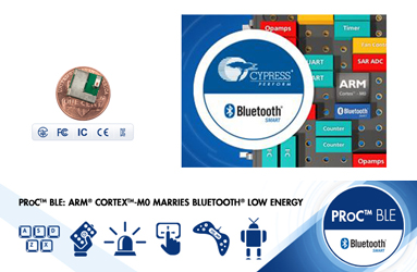 Single-chip Bluetooth Low Energy solutions. Credit image: Cypress