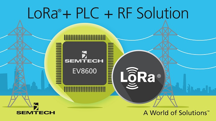 With both a PLC modem and RF modem on a single chip, the EV8600 can virtually enable 100% connectivity. Source: Semtech