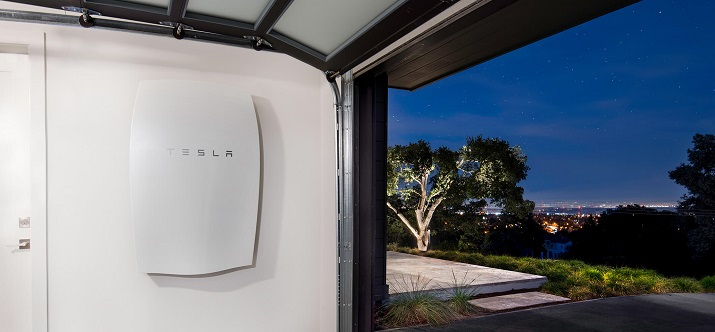 Tesla's Powerwall energy-storage system can be used in times of emergency or during a powerful storm to provide electricity to home appliances, home lighting or even a furnace. Source: Tesla