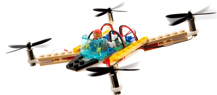 A design one Flybrix user created using LEGOs and the Flybrix kit. Source: Flybrix