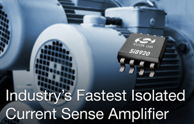 Silicon Labs Si8920 Isolated Current Sense Amplifier. Source: Silicon Labs