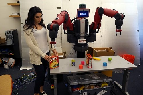 "ComText allows robots to understand contextual commands like ""pick up the box I put down."" Source: MIT"
