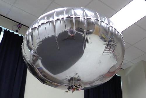 The autonomous blimp that can detect motion and learns about the users' reactions. Source: Georgia Institute of Technology