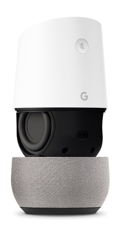 Inside the Google Home is a host of components and semiconductors used to connect to other devices and power the microphone and speaker. Source: Google