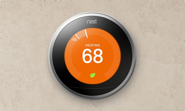 The Nest thermostat learns your patterns of how you want your home to be in terms of temperatures. Source: Nest
