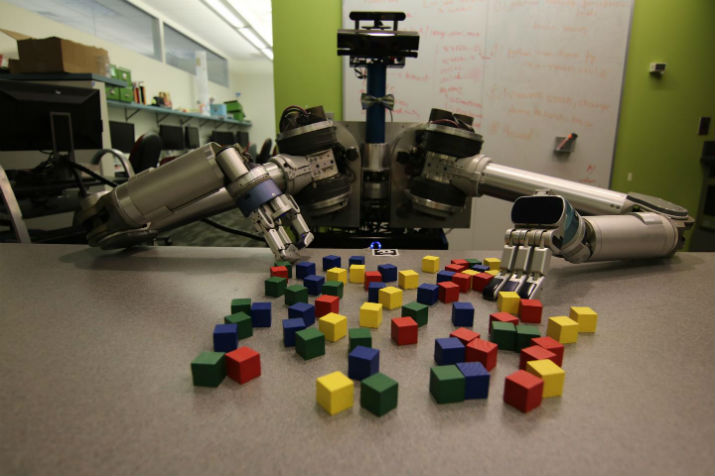 New software developed by Carnegie Mellon University helps mobile robots deal efficiently with clutter, either in the back of a refrigerator or even on the moon. (Image Credit: Carnegie Mellon University Personal Robotics Lab)