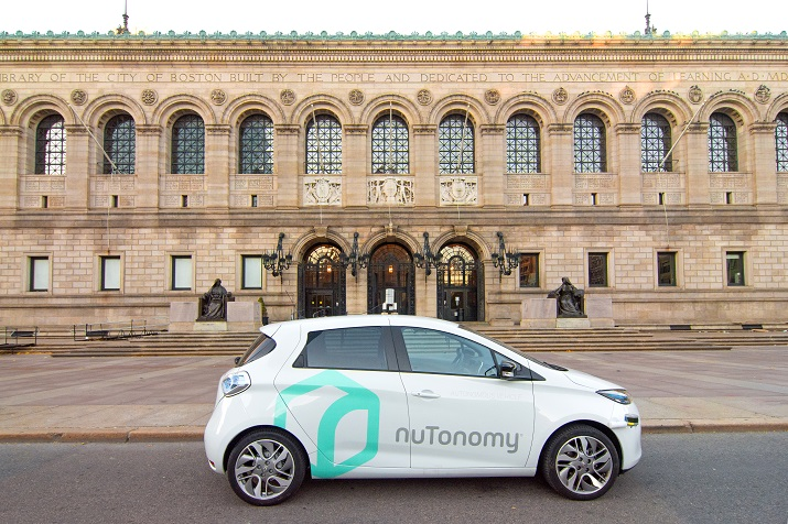 The Renault Zoe electric vehicle will be outfitted with software to enable autonomous driving without a driver. Source: nuTonomy