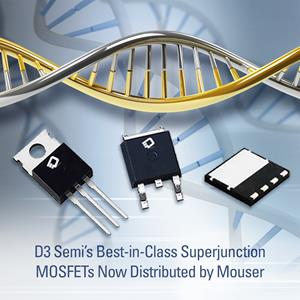 The +FET line of 650V-rated superjunction MOSFETs. Image credit: D3 Semiconductors