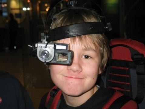 A Finnish boy uses augmented reality to learn about science and other educational skills. Source: University of Helsinki