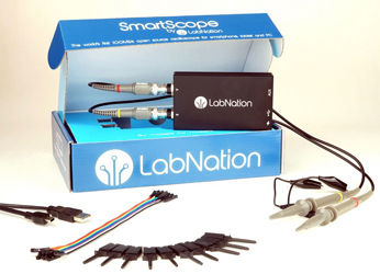 LabNation USB-based SmartScope runs on multiple OSes and platforms