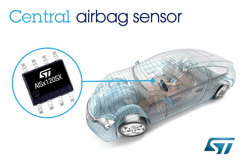 st introduces 2 automotive mems airbag crash sensors electronics360. Black Bedroom Furniture Sets. Home Design Ideas
