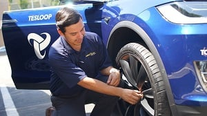 Goodyear Tire & Rubber Company is equipping Tesloop's Tesla electric vehicle tires with wireless sensors. Source: Goodyear Tire & Rubber Company