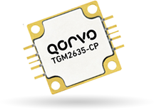 The TGM2635-CP 100W power amplifier targets satellite communications, data links and radar applications. Source: Qorvo