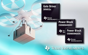 The DRV832x brushless DC gate drivers and CSD88684/99 NexFET Power Blocks. (Source: TI)