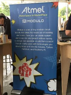Atmel highlighted its powered projects at their booth.