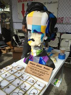 3D-printed sculpture of Edgar Allen Poe created by We The Builders.