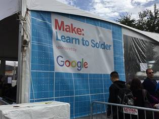The Learn to Solder programme sponsored by RadioShack.