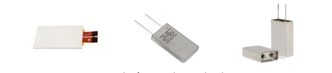 Figure 1: Examples of prismatic aluminum electrolytic capacitors.