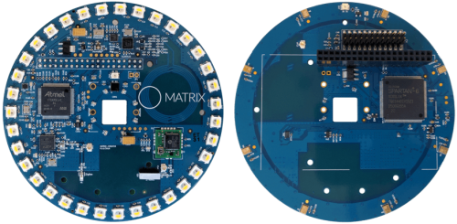 The Matrix Creator connects to a Raspberry Pi to enable makers to create gadgets, drones, robots and more. (Source: Avnet)
