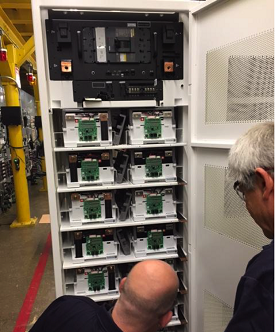 Figure 3. To ensure the customer reaps the long-term benefits of LIBs, Vertiv electrical engineers test each installation to ensure the batteries work seamlessly with the UPS to meet the application specifications. Source: Vertiv