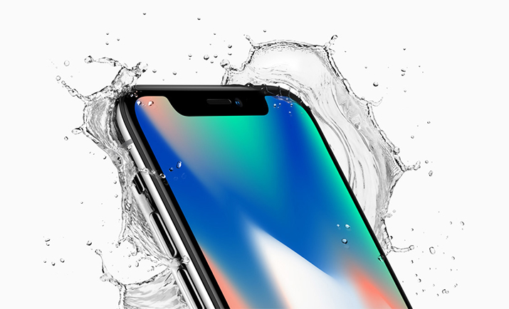 The iPhone X features water and dust resistance. Source: Apple Inc.