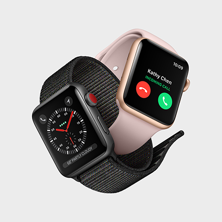 With built-in cellular, the Apple Watch now works as a standalone for phone calls. Image credit: Apple Inc.