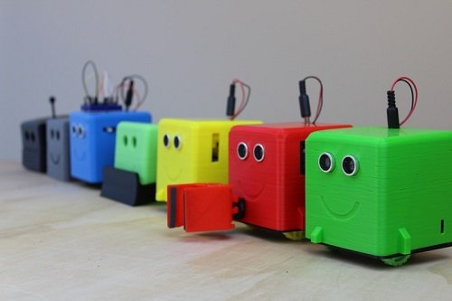 3-D printed robots can be controlled and programmed easily for STEAM students. Source: Slant Robotics