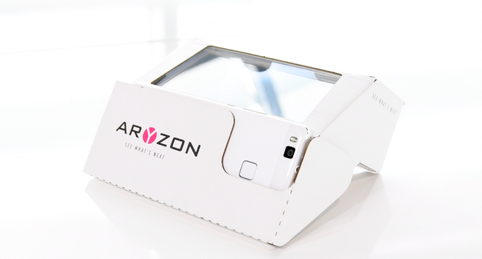 A cardboard augmented reality headset that costs $32. Source: Aryzon