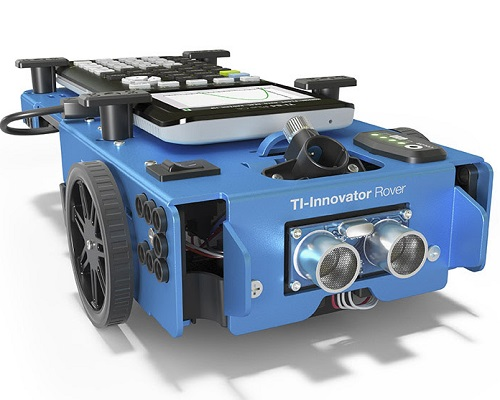 The TI-Innovator Rover robot gives students a start in STEM skills. Source: Texas Instruments