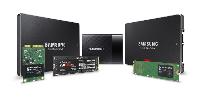 Samsung's market-leading SSD products include a wide range of performance, capacities and formats. Source: Samsung Electronics