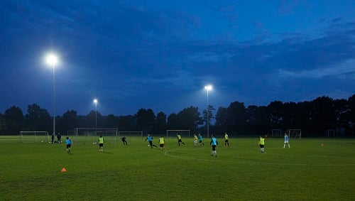 Philips PerfectPlay LED lighting could be used at recreational facilities for soccer, rugby, golf, tennis or even inside at a gym. Source: Philips Lighting