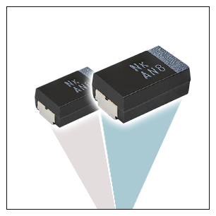 New Vishay polymer tantalum chip capacitors distributed through New
