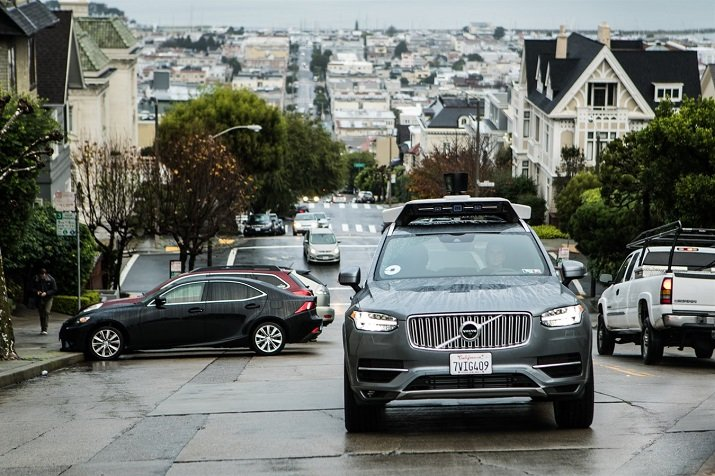 The project will involve self-driving cars on the road in San Francisco, but with an Uber technician in the car in order to take control if necessary. Source: Volvo