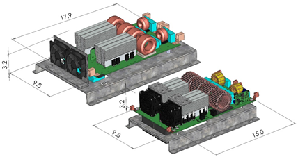 Figure 7. Left: C2M boost converter; right: C3M boost converter. Source: Wolfspeed