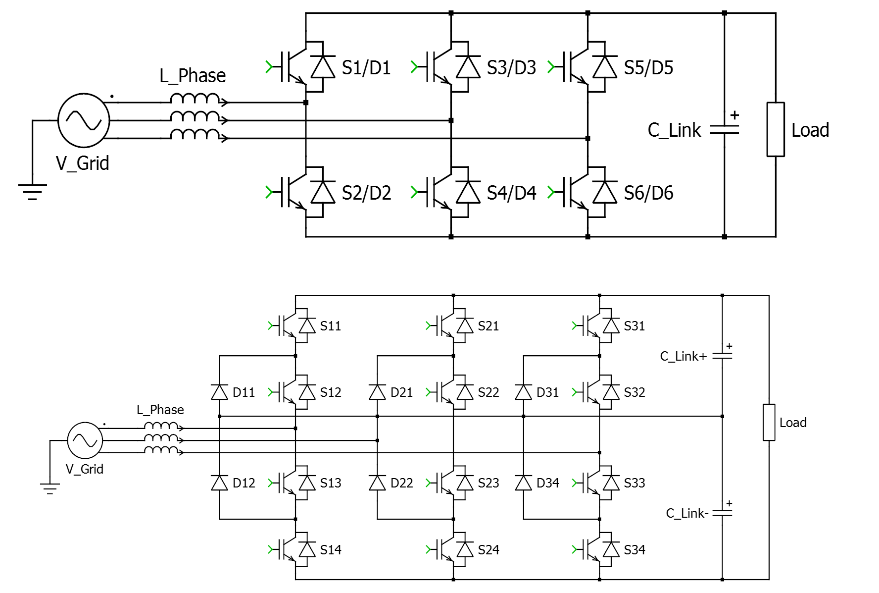 Wolfspeed Sic Mosfets Enable Radical Improvements In Efficiency Figure 3 Simple Inverter Circuit Using Igbt 2 Two Level Six Switch Rectifier Top And