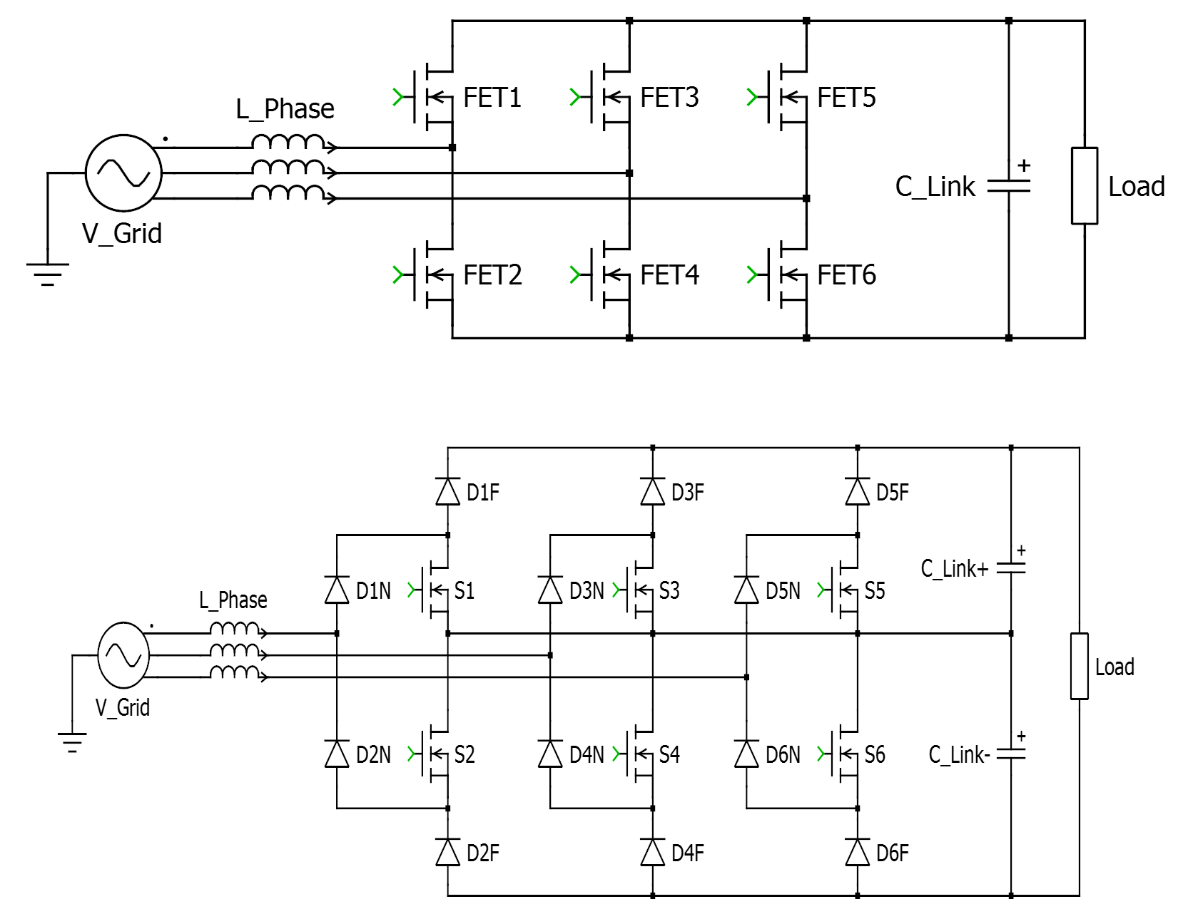Wolfspeed Sic Mosfets Enable Radical Improvements In Efficiency Figure 3 Simple Inverter Circuit Using Igbt Two Level Mosfet Rectifier Top And Three