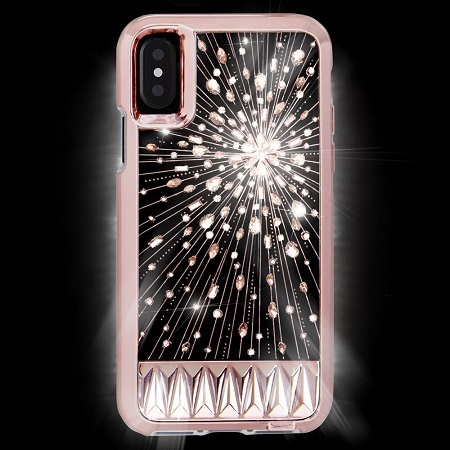 The Case-Mate Luminescence features inlaid, light-up crystals. Source: Case-Mate