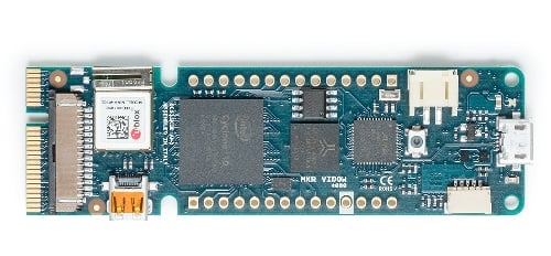 The MKR Vidor 4000 combines a microcontroller and FPGA in a slim form factor. Source: Arduino