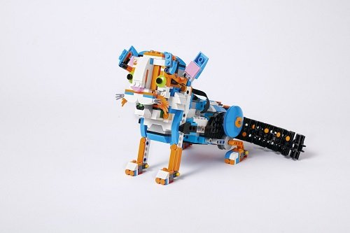 Frankie the cat is one creation children can build with the LEGO BOOST. Source: LEGO