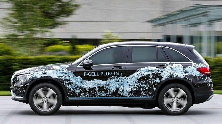 The GLC F-Cell plug-in hybrid electric-hydrogen vehicle will offer a combined range of about 500 km. Source: Daimler