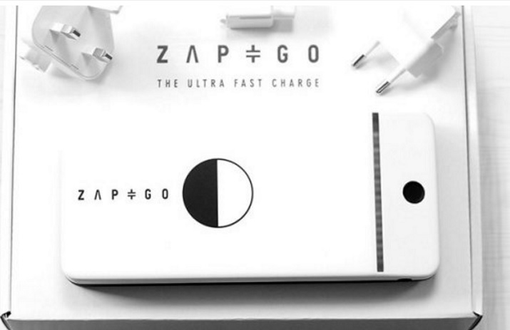 Anything from cordless tools, to mobile devices, to children's toys can be charged in five minutes using a carbon-ion battery from ZapGo. Source: ZapGo