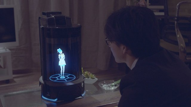 The Vinclu bot keeps people company when they are lonely (Gatebox)