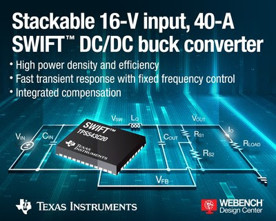 The TPS543C20 buck controller. Source: Texas Instruments