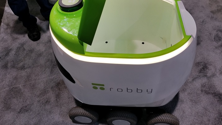 The Robby 2 on the show floor at CES 2018. Source: Peter Brown/Electronics360