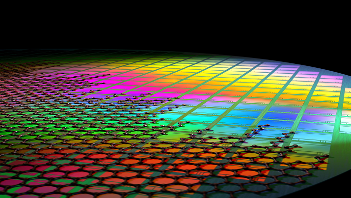 This is graphene integrated onto CMOS pixels. (Fabien Vialla)