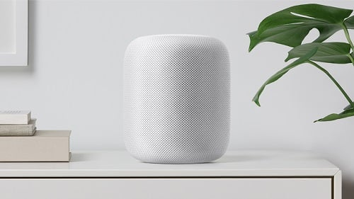 The HomePod connects to Apple Music subscription and can operate other smart home devices. (Source: Apple)