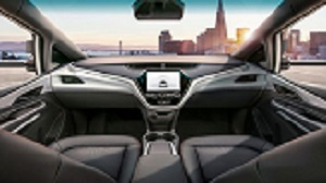The Cruise AV uses no driver, steering wheel, pedals or manual controls. Source: GM