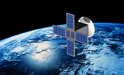 UF-RadSat will deploy its parabolic mesh high-gain antenna once placed in orbit. Source: NASA's Goddard Space Flight Center