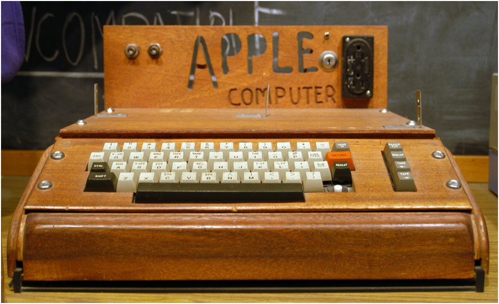 The Apple I—the first truly personal computer—1976. Author Ed Uthman, Source: Wikimedia Commons